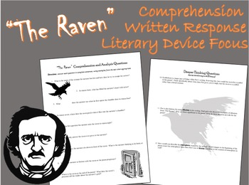 """""""The Raven"""" Comprehension and Written Response"""