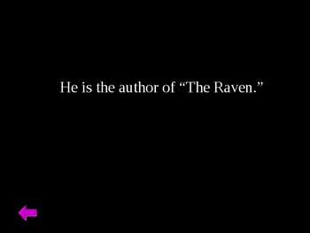 """The Raven"" Jeopardy Part I"