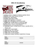 """The Raven"" and ""Masque of the Red Death"" Vocabulary Activ"