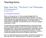 """""""The Raven"""" and """"Philosophy of Composition"""""""
