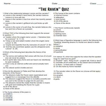 """Poetry Lesson: """"The Raven"""" by Edgar A. Poe {Google Digital Resource}"""