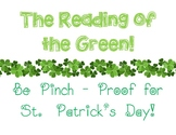 """""""The Reading of the Green"""" - St. Patrick's Day"""