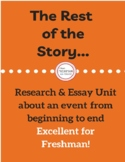 """The Rest of the Story"" Paper- Freshman- With Rubric and Example!"