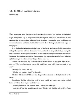 """""""The Riddle of Princess Sophia"""" text and worksheets"""