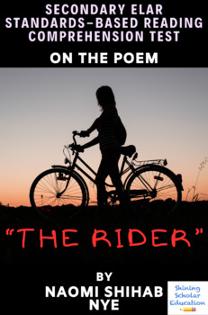 """""""The Rider"""" Poem by Naomi Shihab Nye Multiple-Choice Reading Comprehension Test"""