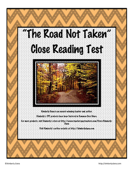 """""""The Road Not Taken"""" Close Reading Test"""