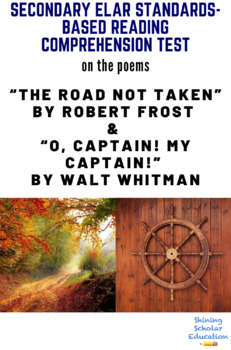 """""""The Road Not Taken"""" & """"O, Captain! My Captain!"""" Poetry Reading Test"""