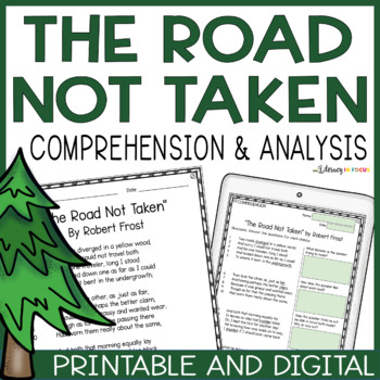 """""""The Road Not Taken"""" - Vocabulary, Comprehension, Analysis"""