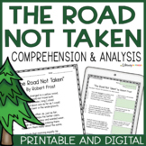 The Road Not Taken | Reading Comprehension Unit | Robert Frost