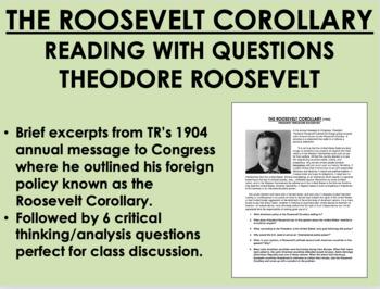 """The Roosevelt Corollary"" - Theodore Roosevelt - US History/APUSH"