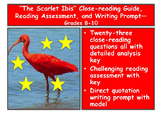 """""""The Scarlet Ibis"""" Close-reading Guide, Reading Assessment, and More—Grades 8-10"""