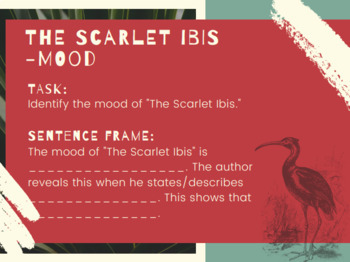 """The Scarlet Ibis"" Post Questions/Task Cards"