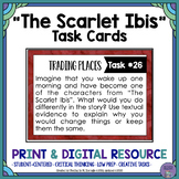 """""""The Scarlet Ibis"""" by James Hurst Task Cards with EDITABLE Templates"""