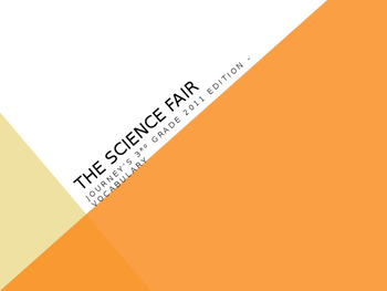 """The Science Fair"" from Ramona Quimby, Journey's 3rd Grade Lesson 12"