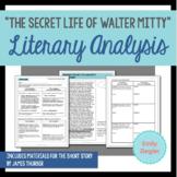 """The Secret Life of Walter Mitty"" Literary Analysis Graphic Organizers"