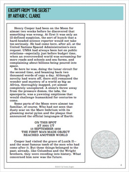 """The Secret"" by Arthur C. Clarke Literary Analysis Graphic Organizers"