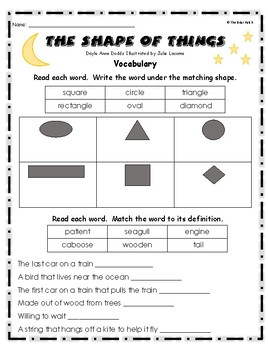 """""""The Shape of Things"""" Activities for Guided Reading & Writing"""