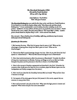 """The Shawshank Redemption"" Film Study Guide"