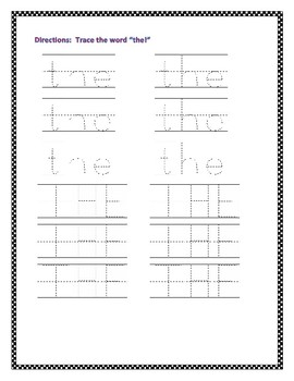 """""""The"""" Sight Word Activities"""