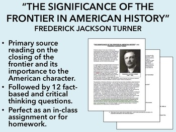 """""""The Significance of the Frontier in American History"""" - US History/ APUSH"""