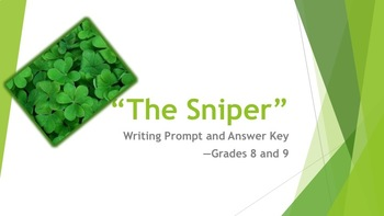 """""""The Sniper"""" Writing Prompt and Key—Grades 8 and 9"""