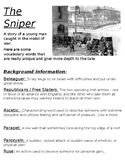 """The Sniper"" background vocab and questions"