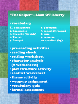 """""""The Sniper"""" by Liam O'Flaherty:  Lesson"""