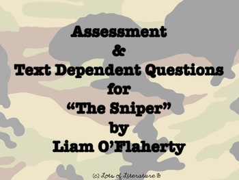 """""""The Sniper"""" by Liam O'Flaherty Test and Text-Dependent Questions"""
