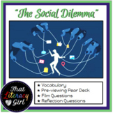 """""""The Social Dilemma"""" Pear Deck and Film Questions"""