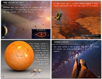 """The Solar System"" – Original Book/Slideshow, 3rd-Grade Level, w/ Worksheets!"