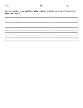 """""""The Star"""" - Story Assessment for 5th Grade Common Core Support Coach"""