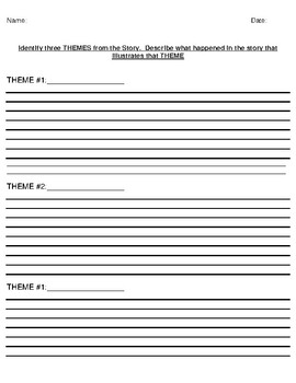 """""""The Story of An Hour"""" by Kate Chopin Theme Worksheet"""