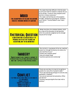 """""""The Story of an Hour"""" by Chopin Literary Element Card Matching"""