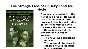 """The Strange Case of Dr. Jekyll and Mr. Hyde"" Powerpoint"