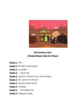 """""""The Strawberry Snow"""" A Readers Theater Script"""