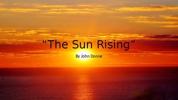 """The Sun Rising"" by John Donne"
