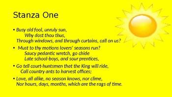 """The Sun Rising"" by John Donne"