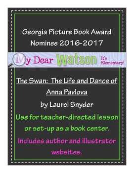 """The Swan"" - GA Picture Book Award Nominee 2016-2107"