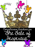 """The Tale of Desperaux"" Comprehension Questions for Novel"