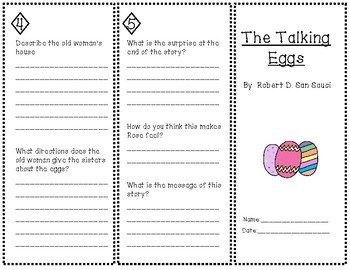"""""""The Talking Eggs"""" Trifold"""