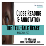 The Tell-Tale Heart - Close Reading & Annotation [DISTANCE LEARNING]