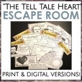 """""""The Tell Tale Heart"""" Escape Room for Grades 7-10 ELA"""