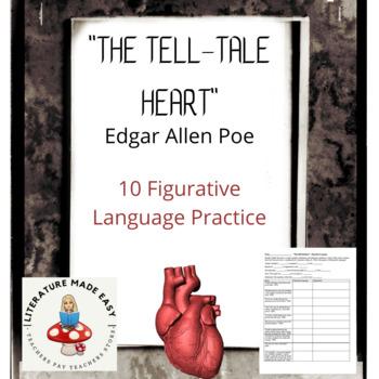 """The Tell-Tale Heart"" Figurative Language Chart"
