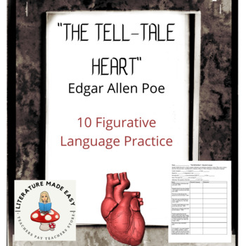"""The Tell-Tale Heart"" Figurative Language Chart"