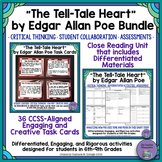 """""""The Tell-Tale Heart"""" by Edgar Allan Poe Bundle Close Reading Unit & Task Cards"""