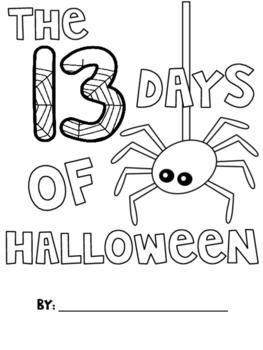 """""""The Thirteen Days of Halloween"""" Alliteration Activity"""
