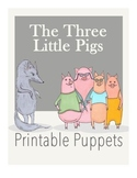 """""""The Three Little Pigs"""" Printable Popsicle Stick Puppets"""