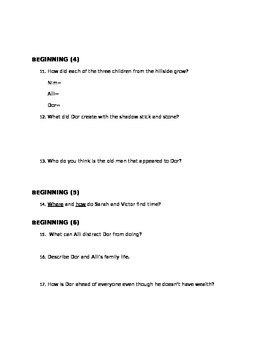 """The Time Keeper"" Guided Reading Questions: Prologue and Beginning"