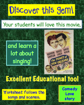 """The Toast of New Orleans"" (1950) Chorus Movie Worksheet"