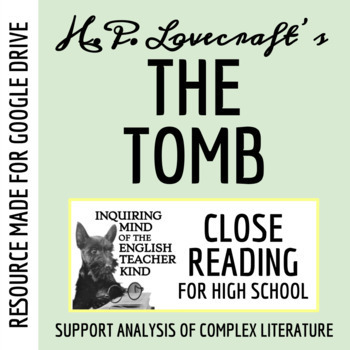 """""""The Tomb"""" by H.P. Lovecraft Guided Reading Questions (Text Included)"""